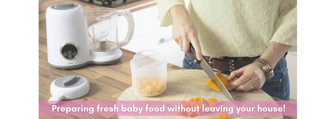 Preparing fresh baby food without leaving your house!