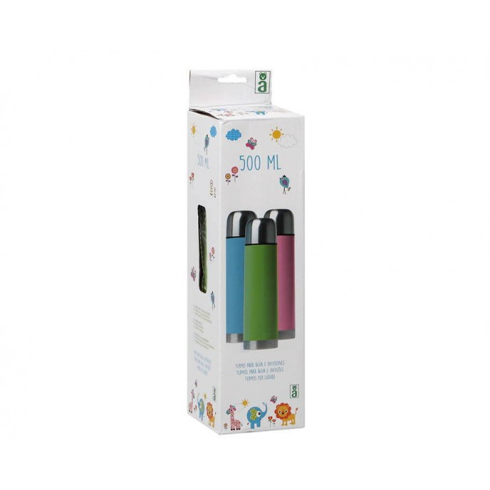 Kiokids Flask Stainless Steel 500ml (Assorted Colours)