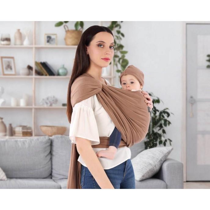 Kiokids Baby Carrier Cotton Brown