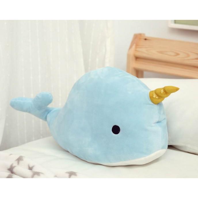 Kiokids Cuddly Narwahl Blue 45cm
