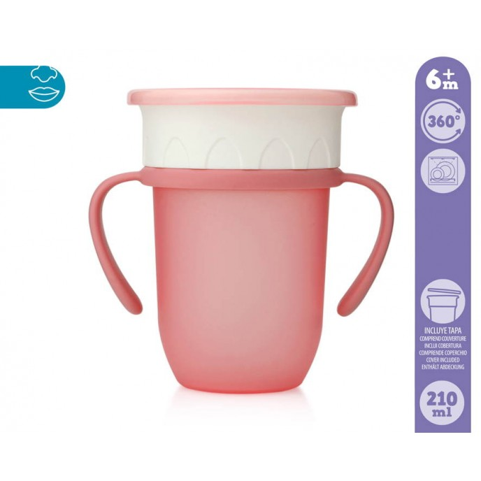 Kiokids 360 Trainer Cup 210ml Pink