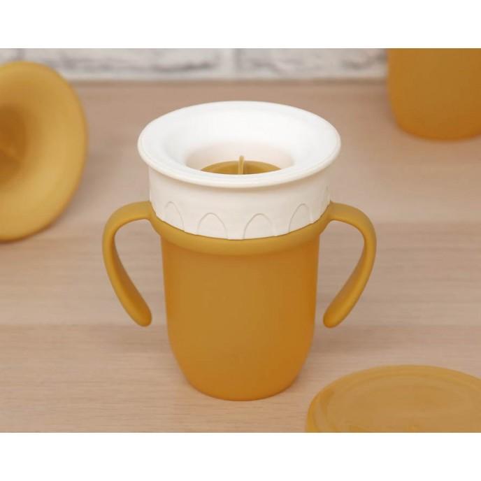 Kiokids 360 Trainer Cup 210ml Yellow