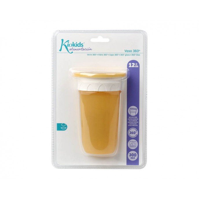 Kiokids 360 Sippy Cup 300ml Yellow