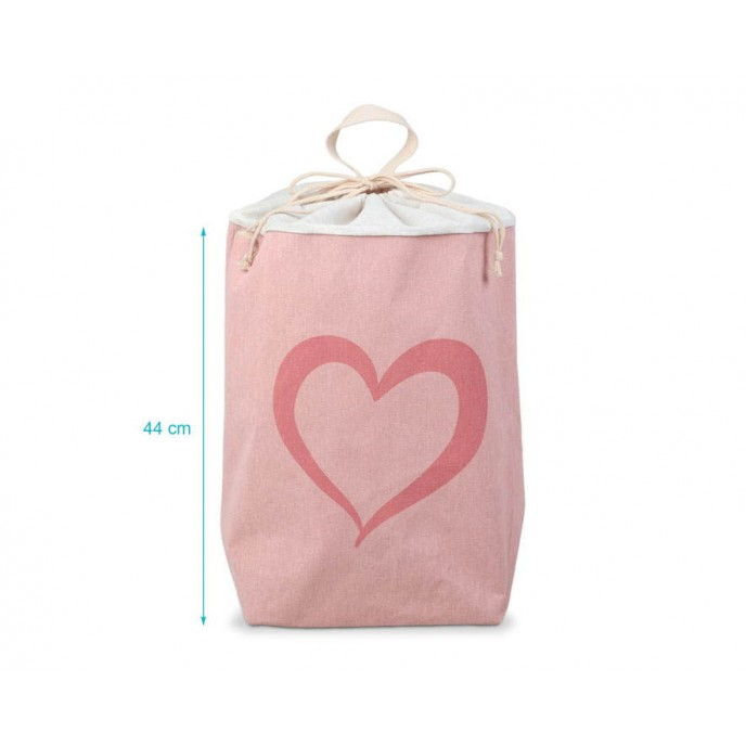 Kiokids Laundry Basket Pink Hearts