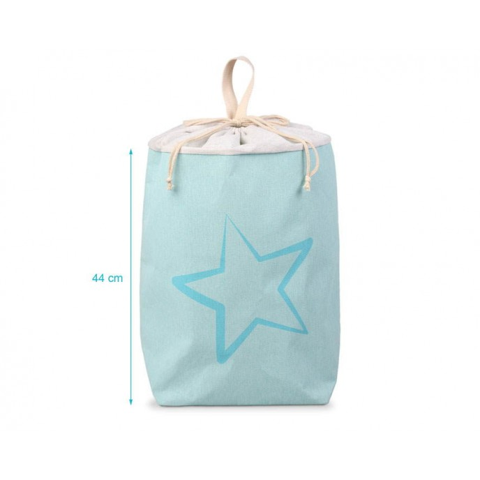 Kiokids Laundry Basket Blue Stars