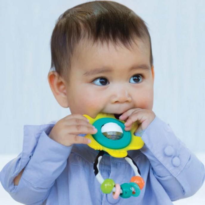 Infantino Spin & Teethe Flower Rattle