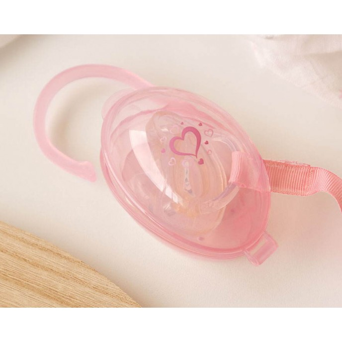 Kiokids Soother Holder Hearts Pink