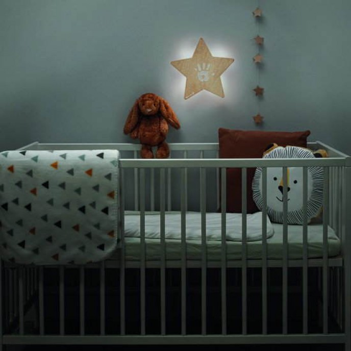Baby Art Wooden Wall Light with Imprint