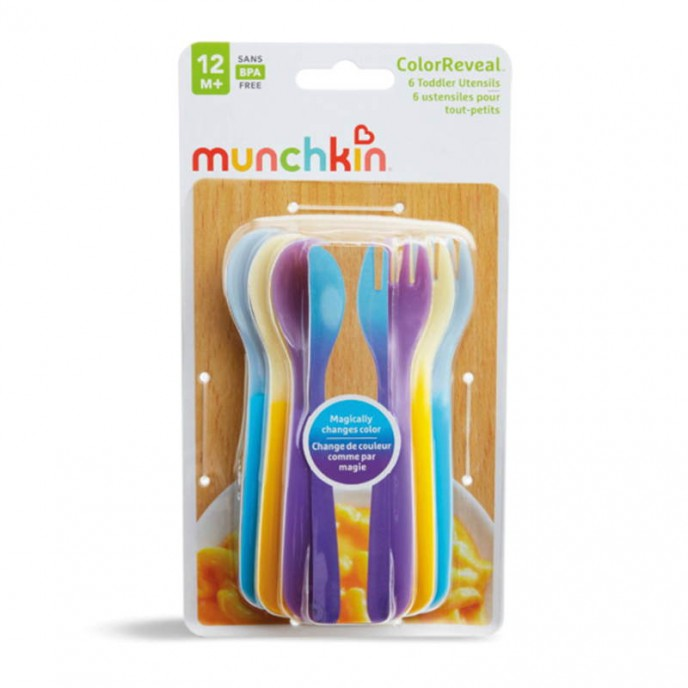 Munchkin Colour Changing Forks & Spoons 6pk