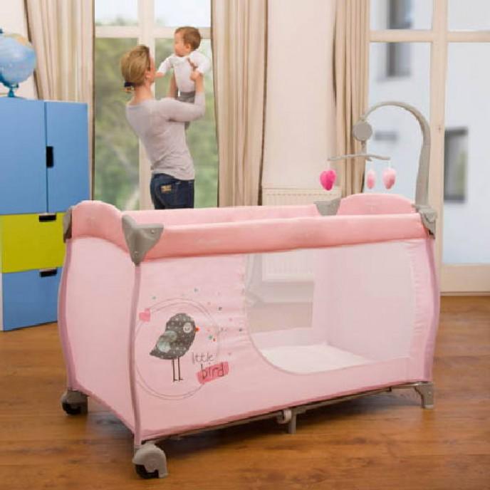 Hauck Babycenter Birdie Grey