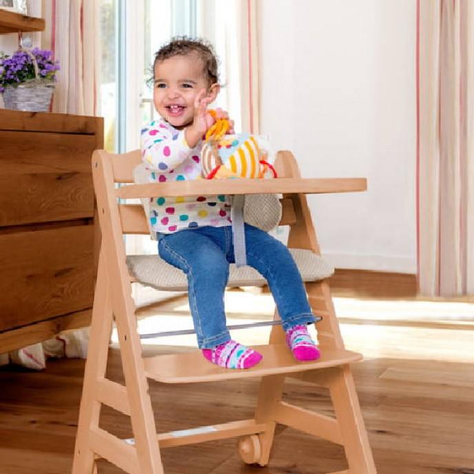 Hauck Beta + Natural Wooden Highchair