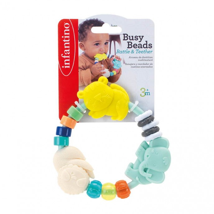 Infantino Busy Beads Rattle and Teether