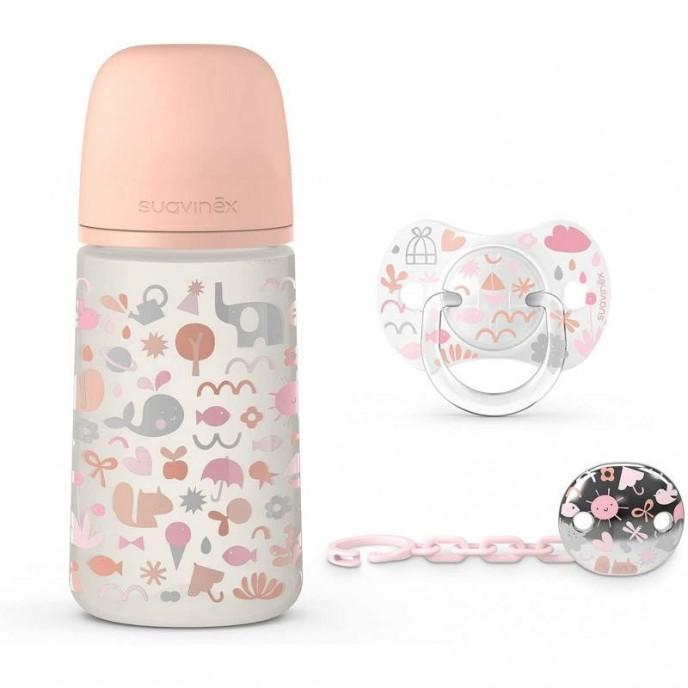 Suavinex Memories Bottle Set 3pc Pink