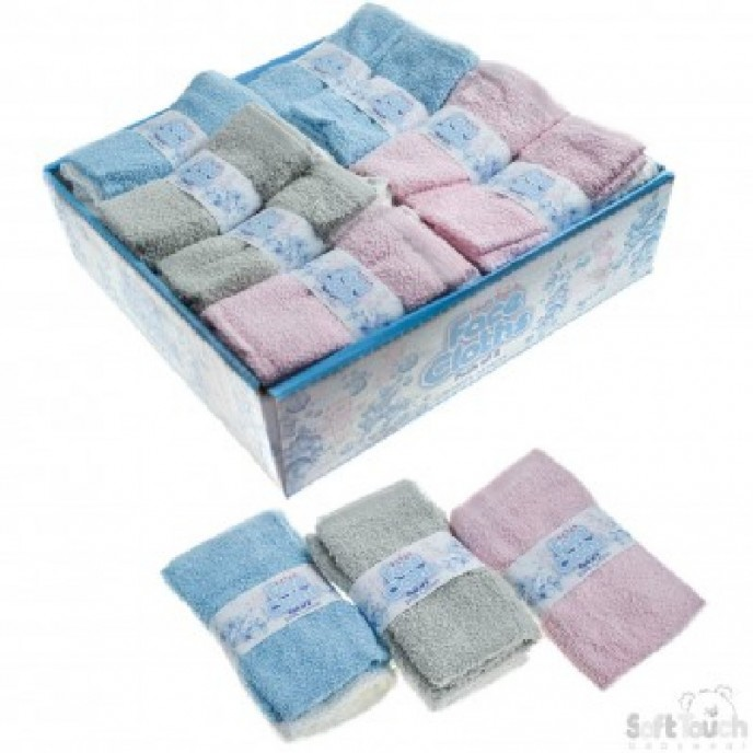 Soft Touch Baby Facecloths 2pk